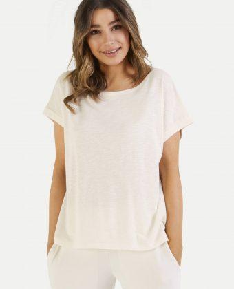T-Shirt | Juvia | Ecru